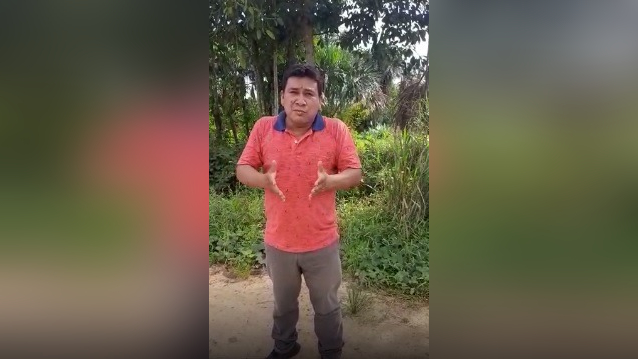 Desde Putumayo, Nicanor Núñez expresa el orgullo de ser peruano.