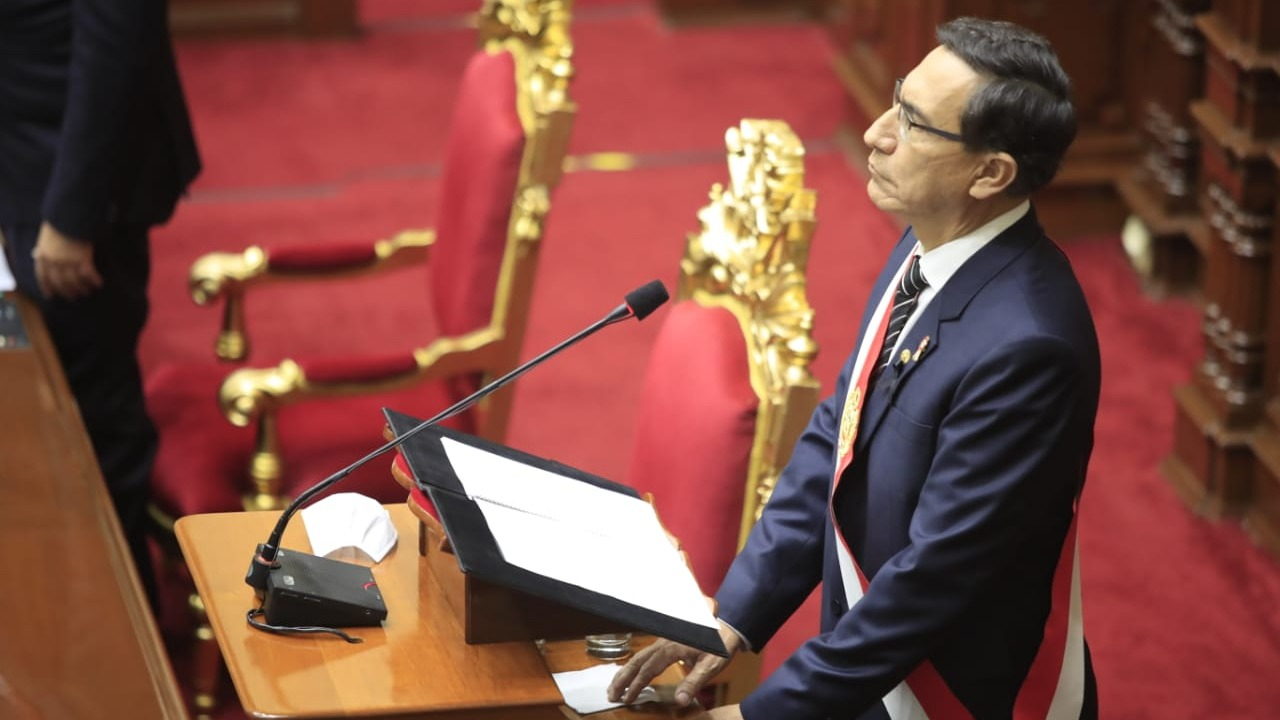 Presidente Vizcarra ofrece su último Mensaje a la Nación.