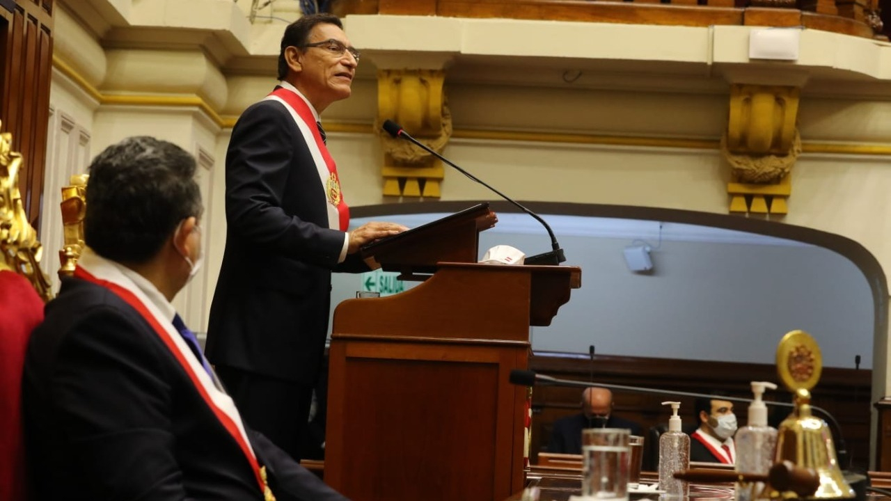 Vizcarra ofreció su último Mensaje a la Nación por Fiestas Patrias.