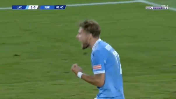 Ciro Immobile marcó su gol 35 ante el Brescia