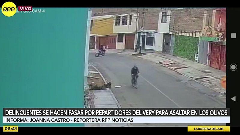 Cámaras de videovigilancia captaron un violento asalto en el jirón Los Castaños.