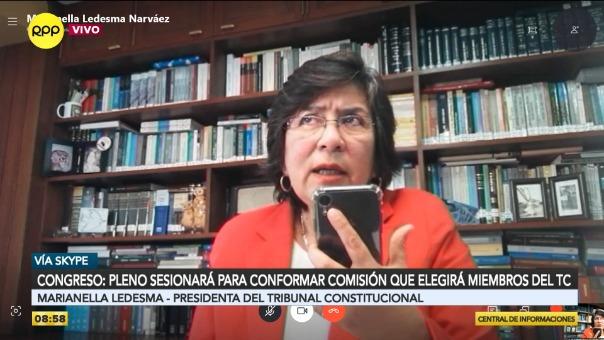 Marianella Ledesma, presidenta del Tribunal Constitucional.