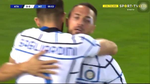 ¡En menos de un minuto! Así fue el gol de Danilo D'Ambrosio en favor de Inter de Milan ante Atalanta