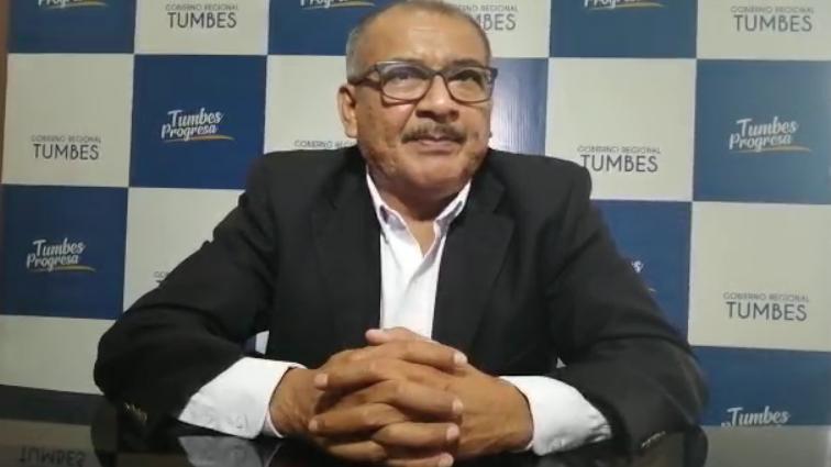 Gobernador regional de Tumbes: Wilmer Dioses Benites.