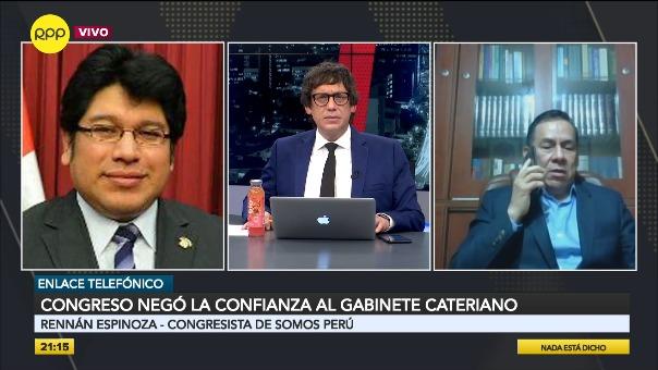 José Vega cuestionó la presentación de Pedro Cateriano ante el Congreso de la República para exponer la política general del Gobierno.
