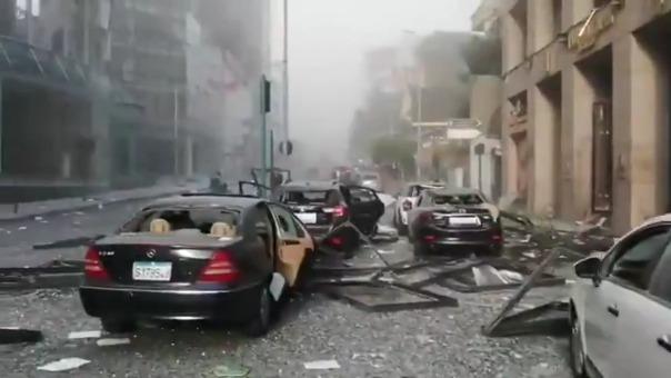 Así quedaron las calles tras las deflagraciones.