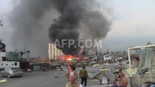 Las autoridades libanesas aún no han calificado las explosiones que sacudieron a Beirut como un ataque.