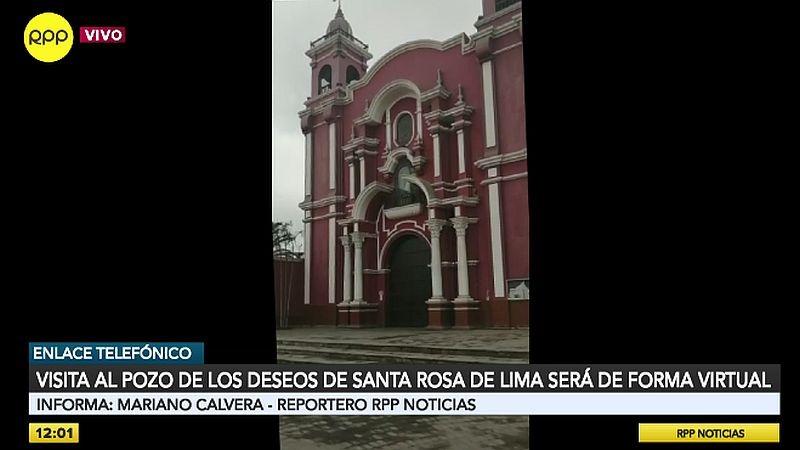 El Santuario de Santa Rosa no acogerá este año a miles de fieles el 30 de agosto.