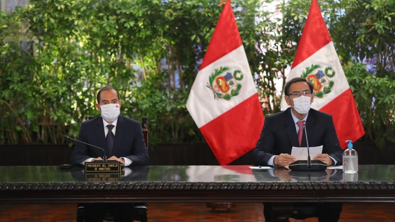 Martín Vizcarra ofreció una conferencia de prensa.