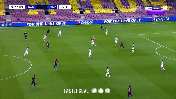 Así fue el golazo de Lionel Messi al Nápoli
