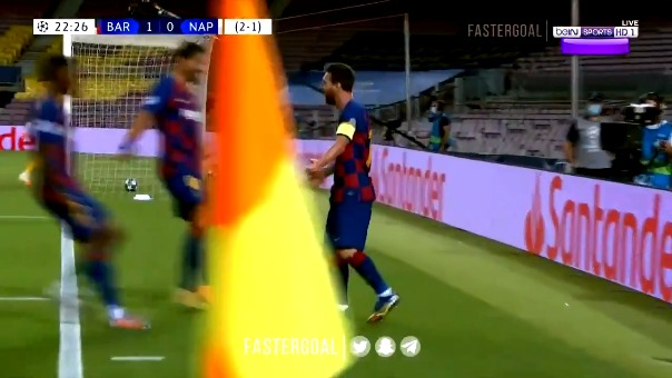 Lionel Messi marcó un gol en la victoria del Barcelona ante Napoli