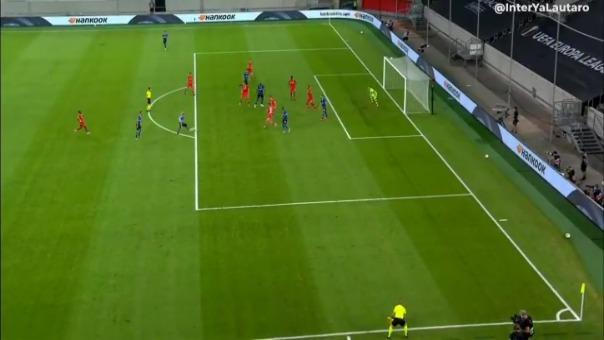 Así fue la asistencia de Lautaro Martínez para el gol del Inter de Milán.