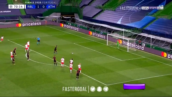 El gol de penal de Atlético de Madrid.