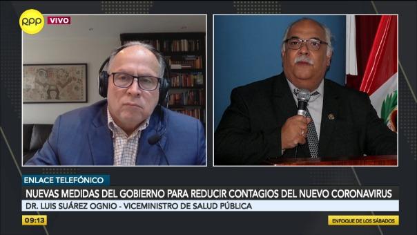 Luis Suárez Ognio, viceministro de Salud Pública, estuvo en Enfoque de los Sábados.