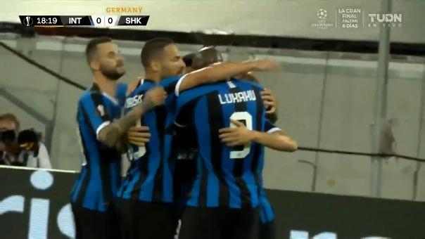 Así fue el primer gol de Lautaro Martínez en el Inter de Milán vs. Shakhtar por la Europa League