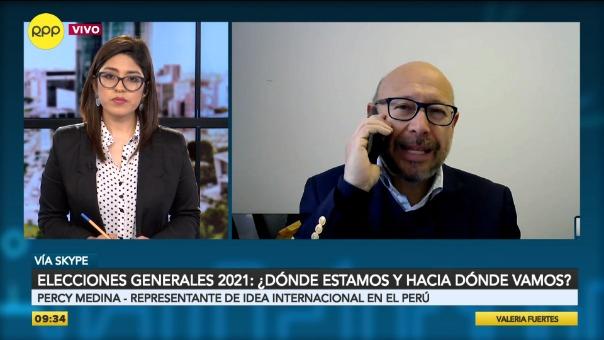 Percy Medina, representante de IDEA Internacional en el Perú.