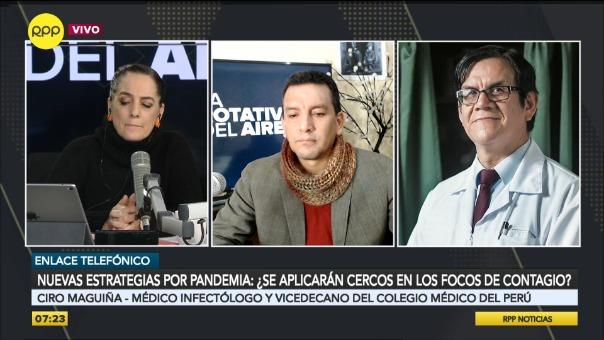 Ciro Maguiña, médico infectólogo y vicedecano del Colegio Médico del Perú.