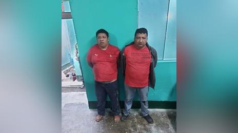 Presuntos integrantes de la organización criminal