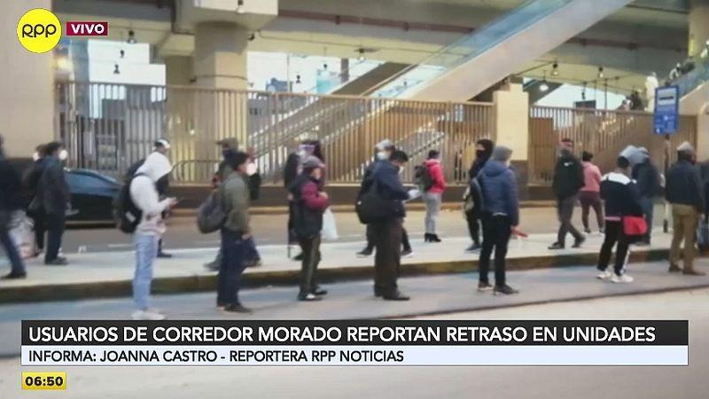 Así luce uno de los paraderos del Corredor Morado en la avenida Próceres de la Independencia.