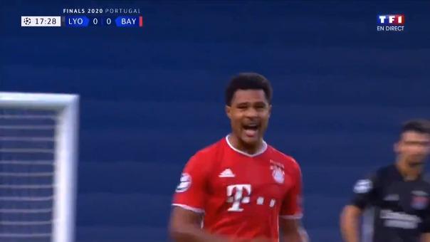 Así fue el primer gol de Bayern Munich ante Lyon por la Champions League