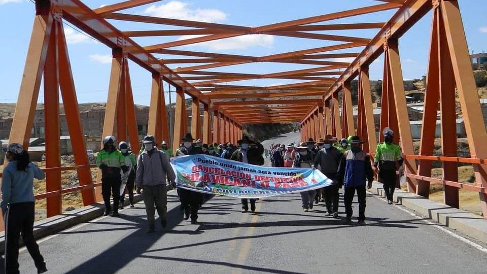 Pobladores de los distritos de Ilave, Capaso, Conduriri y Mazocruz realizaron varias protestas en la provincia de El Collao.