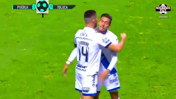 Gol de Santiago Ormeño ante Toluca