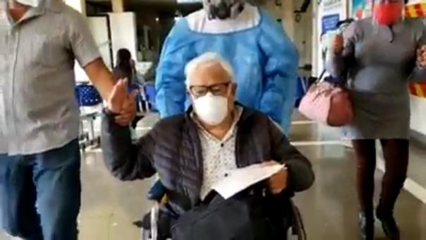 Albino López Lazo ingresó al hospital central de EsSalud, el 13 de agosto, al presentar una descompensación general.