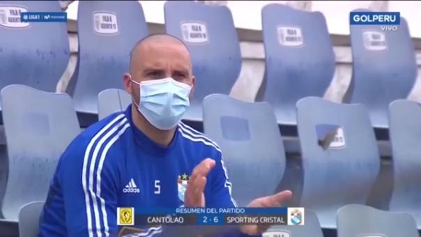 Emanuel Herrera marcó dos goles en la victoria de Sporting Cristal ante Cantolao