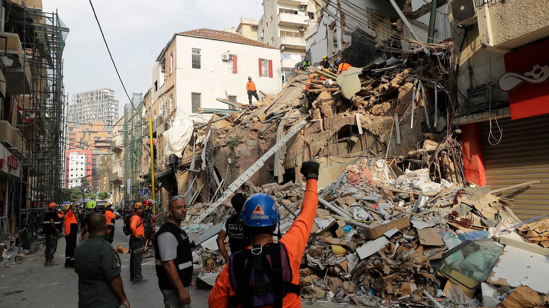 El edificio se vino completamente abajo debido a la explosión que mató a 191 personas, hirió a más de 6.500 y destruyó zonas enteras de Beirut.