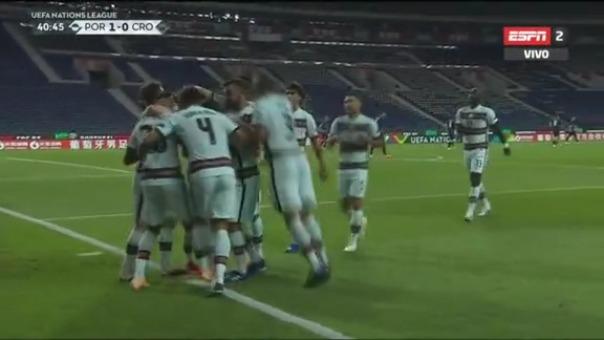 Portugal 1-0 Croacia: así fue el primer gol de Cancelo