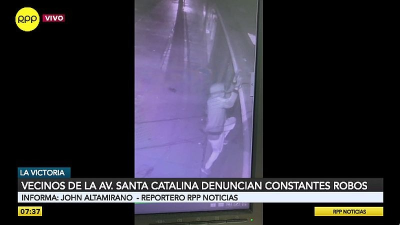 Cámaras de seguridad captaron uno de los robos en la avenida Santa Catalina.