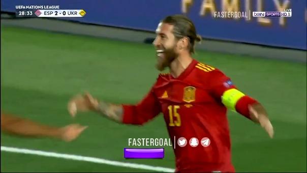Sergio Ramos anotó el 2-0.