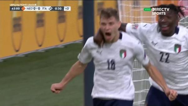 Nicoló Barella abrió el marcador a favor de Italia