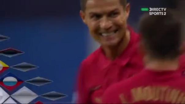 Cristiano Ronaldo marcó su gol número 100 con la camiseta de Portugal