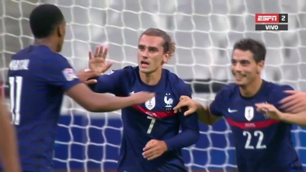 Antoine Griezmann marcó el primer gol de Francia