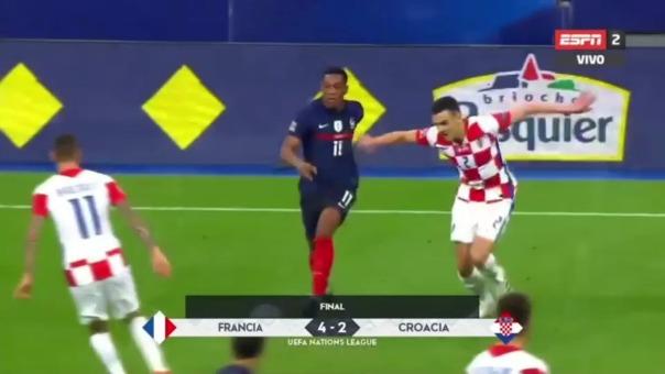Francia ganó 4-2 a Croacia por la Liga de Naciones