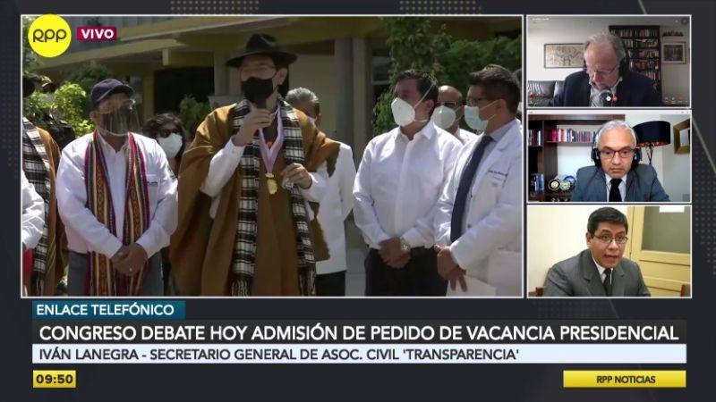 Iván Lanegra comentó la vacancia presidencial propuesta contra Martín Vizcarra.