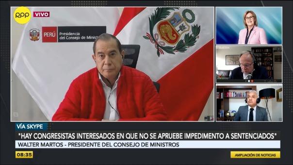 Walter Martos, titular de la PCM.