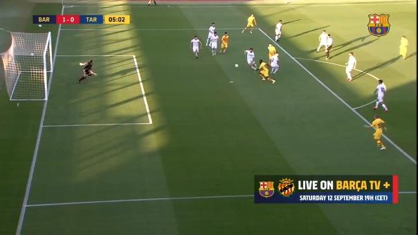 Así fue el primero gol del Barcelona