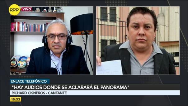 Entrevista en RPP Noticias al cantante Richard Cisneros.