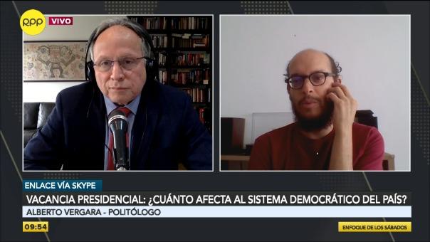 Entrevista al politólogo Alberto Vergara.