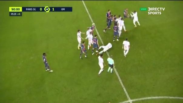 Tremenda bronca se armó casi al final del partido