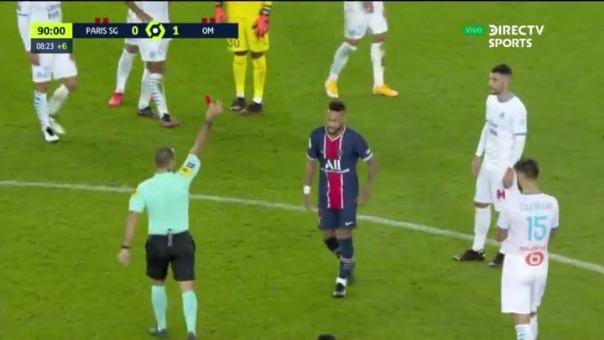 Neymar acusa de racismo a Álvaro tras ser expulsado del partido entre PSG vs. Marsella