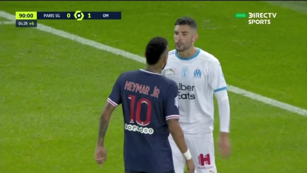 Neymar se pone boca a boca con Álvaro González