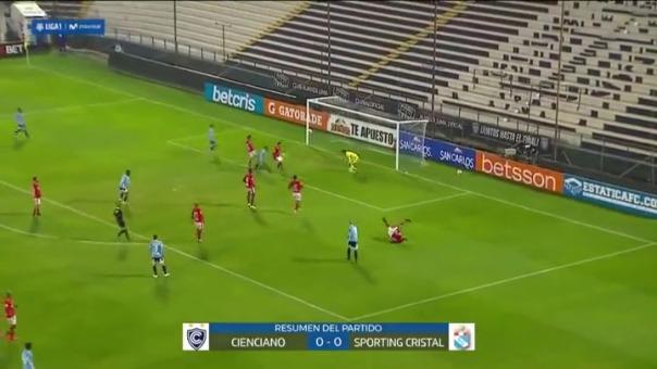 Sporting Cristal perdió una gran ocasión de acercarse a Universitario