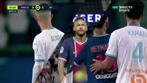 Neymar fue expulsado.