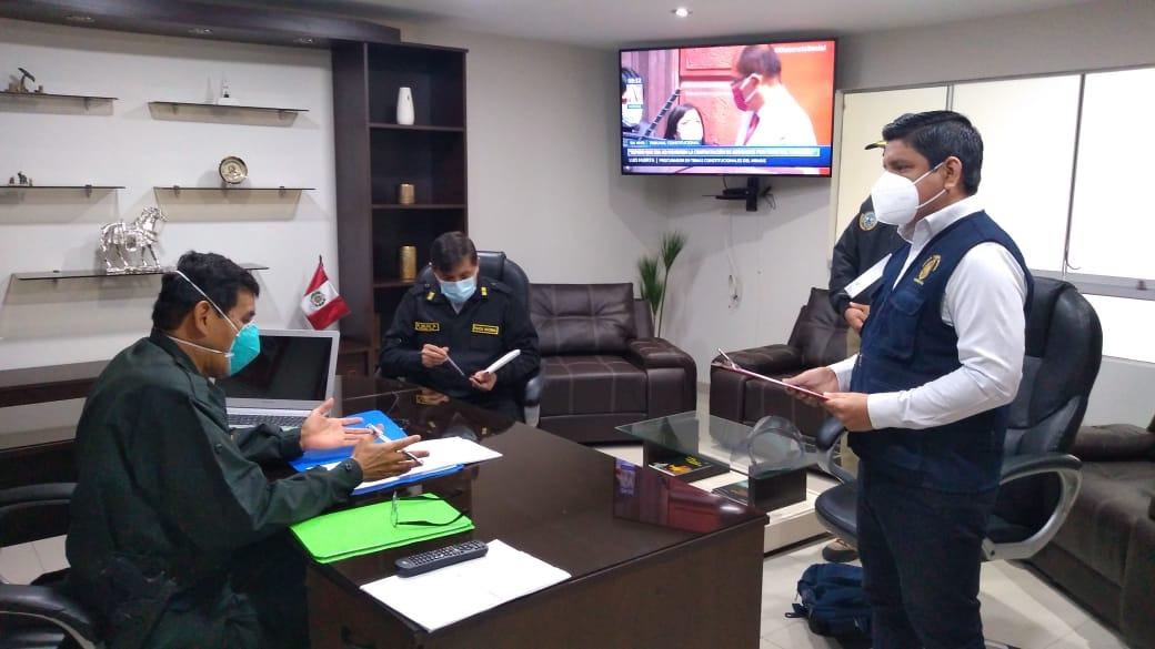 El Ministerio Público inició las diligencias en torno a la investigación por la presunta adquisición de mascarillas de baja calidad y botellas de agua sobrevaloradas en la Tercera Macro Región Policial.
