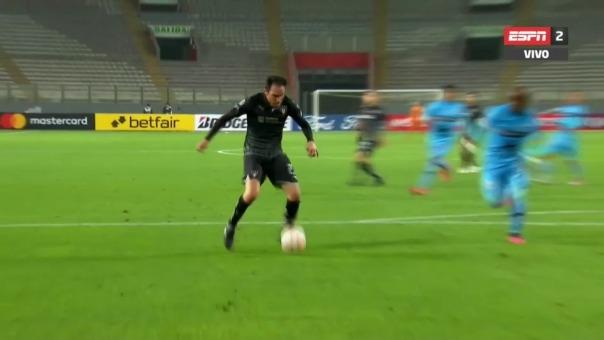 Matias Zunino marcó el gol de la victoria de Liga de Quito ante Binacional por la Copa Libertadores