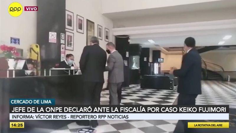 Piero Corvetto Salinas evitó dar declaraciones a la prensa.