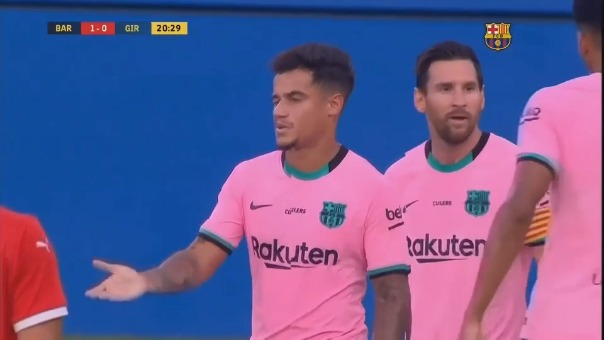 Gol de Philippe Coutinho en el Barcelona vs. Girona